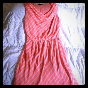 Orange striped tank dress